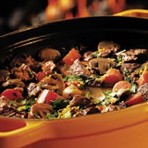 خوراک ماهیچه و سبزیجات
