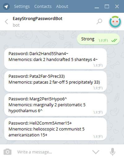 0009  ساخت رمز عبور قوی و ایمن با استفاده از تلگرام 0009