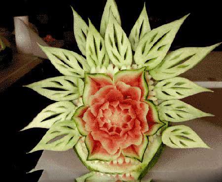 تزئینات هنداونه و انار با طرح جدید برای شب چله 2 3