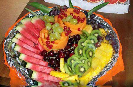 تزئینات هنداونه و انار با طرح جدید برای شب چله 4 1