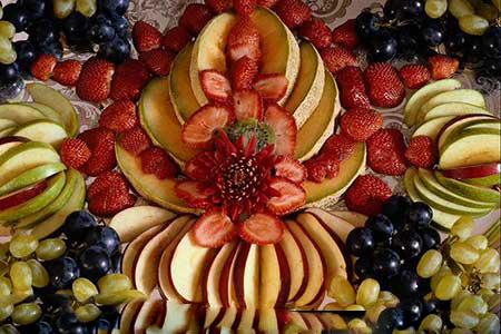 تزئینات هنداونه و انار با طرح جدید برای شب چله 5 1