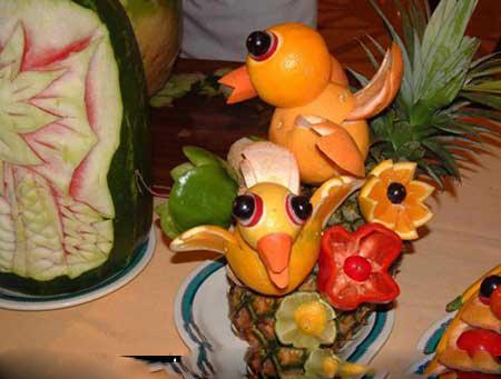 تزئینات هنداونه و انار با طرح جدید برای شب چله 6 1