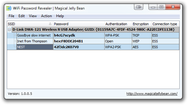 نمایش نام و پسورد تمامی شبکه های وای فای متصل شده در ویندوز 10 WiFiPasswordRevealer